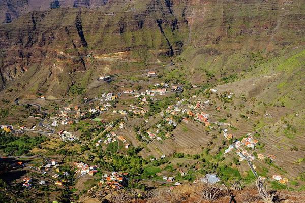 Wall Art - Photograph - Mountain Villages Of Vizcaina Retamal And Lomo Del Balo Valle Gran Rey La Gomera Canary Islands by imageBROKER - Martin Siepmann