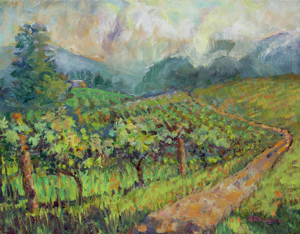 Painting - Mountain Vineyard by Lisa Blackshear