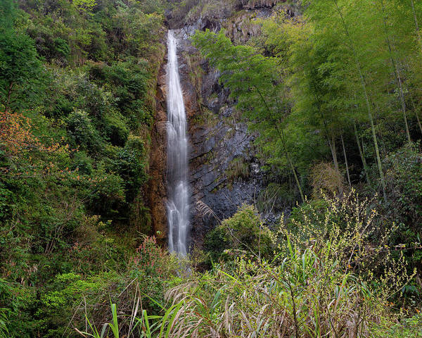 Photograph - Mountain Waterfall V by William Dickman