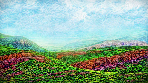 Digital Art - Mountain Wave Flow by Joel Bruce Wallach