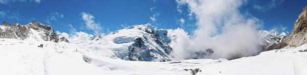 Indian Peaks Wilderness Photograph - Mountaineers Climbing Snow Glacier Peak by Fotovoyager