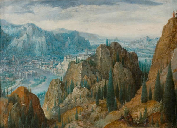 Painting - Mountainous Landscape With The Temptations Of Christ by Frederik van Valckenborch