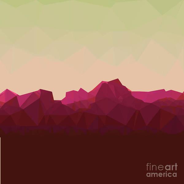 Wall Art - Digital Art - Mountainous Terrain, Polygonal by Droidworker