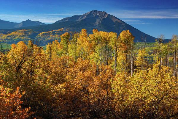 Photograph - Mountains And Aspen by John De Bord