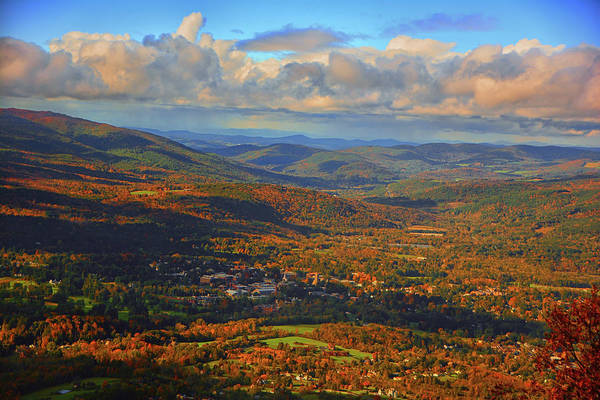 Photograph - Mountains And Looking Towards Williamstown From Mount Greylock 2  by Raymond Salani III
