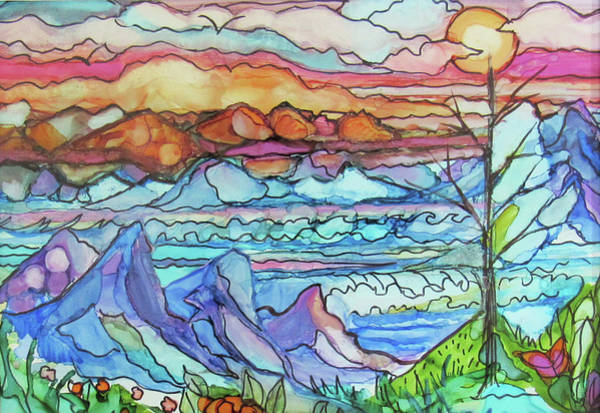 Mountains And Sea Art Print