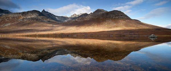 Contrasts Photograph - Mountains At  Kattfjord, Near Tromso by David Clapp