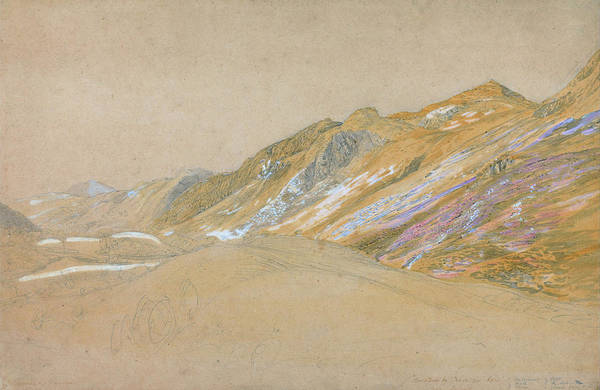 Wall Art - Painting - Mountains By The Traveller's Rest Near Dolgelly - Digital Remastered Edition by Samuel Palmer