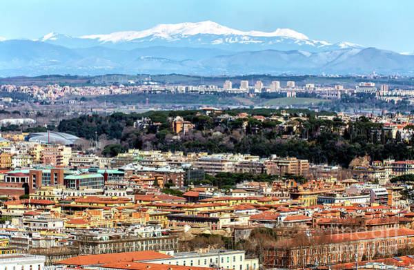 Photograph - Mountains In The Distance From Rome by John Rizzuto