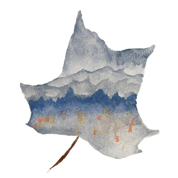 Wall Art - Painting - Mountains In The Leaf by Susan Bryant
