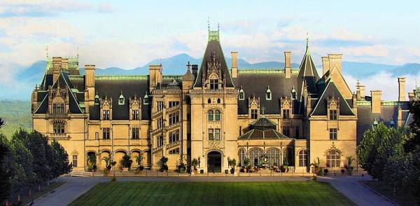 Photograph -  Mountains In The Shadow Of The Biltmore House  by Carol Montoya