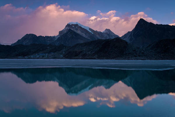 Wall Art - Photograph - Mountains Reflected In Still Rural Lake by Cultura Exclusive/ben Pipe Photography