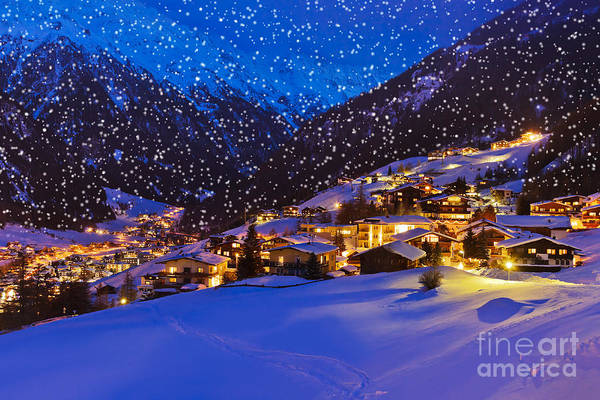 Wall Art - Photograph - Mountains Ski Resort Solden Austria - by Tatiana Popova
