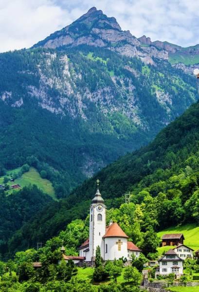 Mountainside Church Art Print