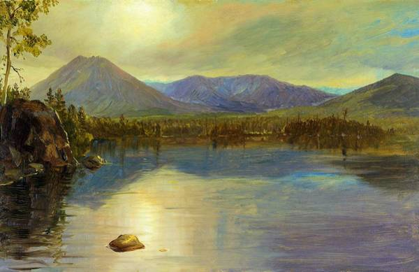 Wall Art - Painting - Mounts Katahdin And Turner From Lake Katahdin, Maine - Digital Remastered Edition by Frederic Edwin Church