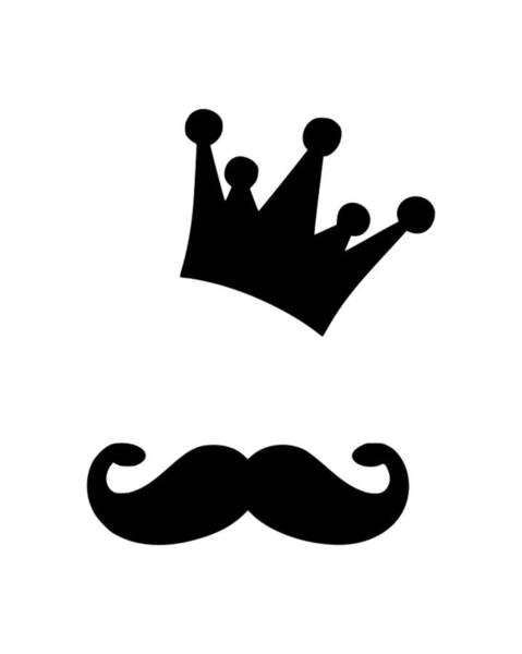 Hardrock Digital Art - Moustache Crown by Tee Titan