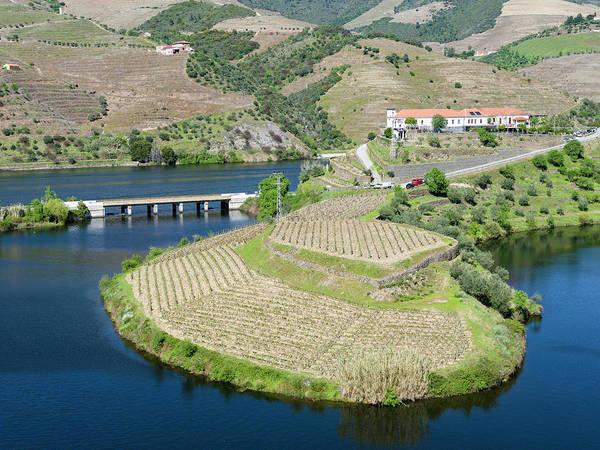 Douro Wall Art - Photograph - Mouth Of Rio Tedo Into River Douro by Martin Zwick