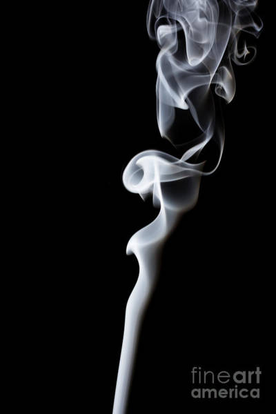 Digital Photograph - Movement Of Smoke,abstract White Smoke by Summer Photographer