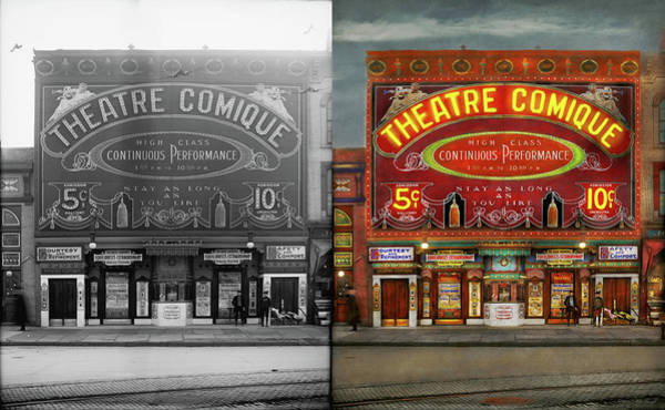 Photograph - Movies - Now That Is Entertainment 1910 - Side By Side by Mike Savad
