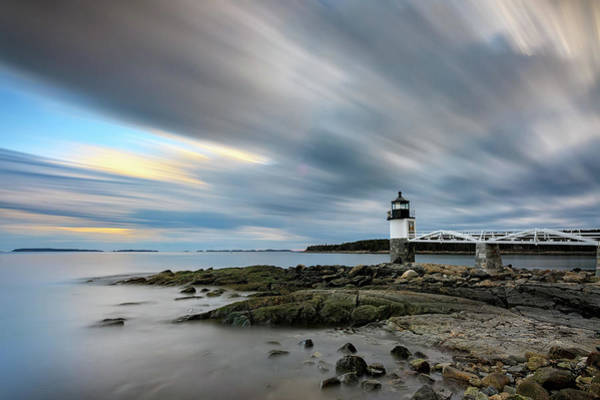 Wall Art - Photograph - Moving Clouds At Marshall Point by Rick Berk