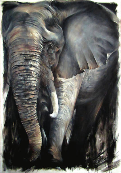 Victoria Falls Painting - Moving Forward by Ellie Eburne