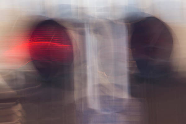 Photograph - Moving Red Semaphore Lights by Yulia Kazansky