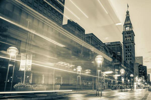 Photograph - Moving Through Denver Colorado - Sepia by Gregory Ballos
