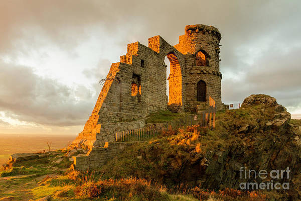 Wall Art - Photograph - Mow Cop Folly At Sunset, Mow Cop by Steven Purcell