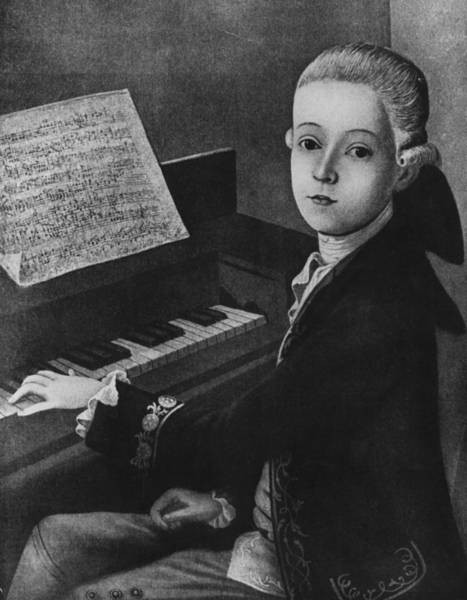 Mozart Photograph - Mozart At Keyboard by Hulton Archive