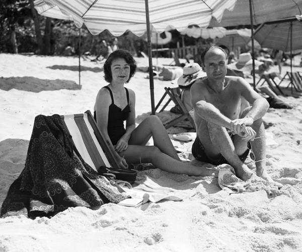Montego Bay Photograph - Mr & Mrs Livingston Biddle II Relaxing by Bert Morgan