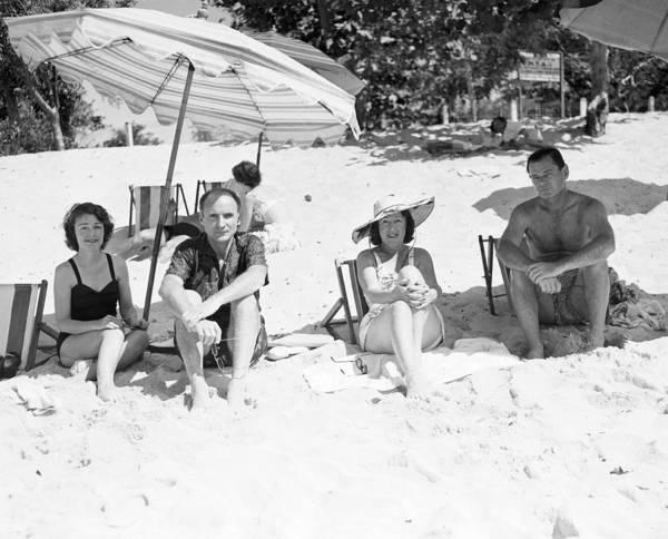 Montego Bay Photograph - Mr & Mrs Livingston Biddle II With Mr by Bert Morgan