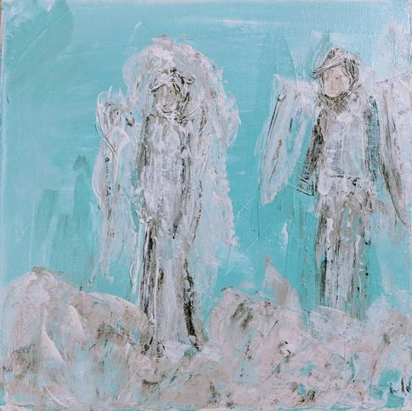 Painting - Mr And Mrs Angels by Jennifer Nease