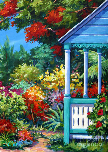 Wall Art - Painting - Mr Bodden's Garden by John Clark