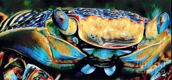Mixed Media - Mr. Crabby by Denise Railey