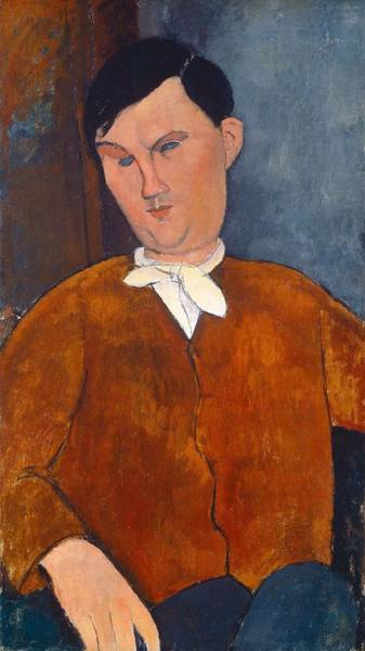 Wall Art - Painting - Mr  Deleu  by Amedeo Modigliani
