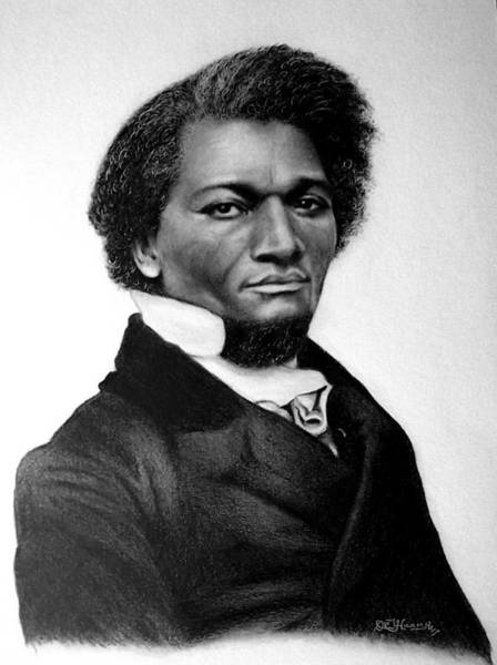 Drawing - Mr. Frederick Douglass by Danielle R T Haney