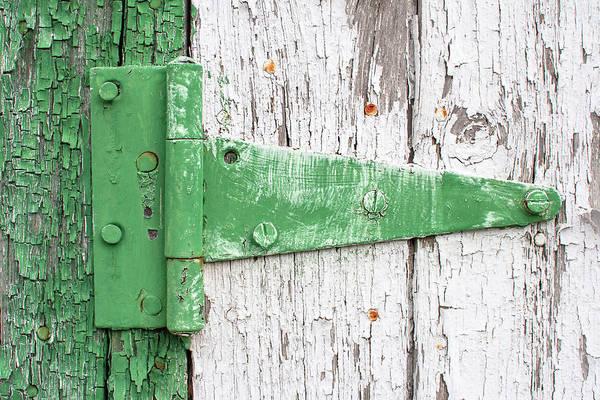 Hinge Photograph - Mr. Green Hinge by Todd Klassy