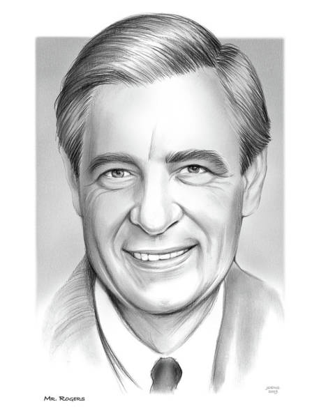 Wall Art - Drawing - Mr Rogers by Greg Joens