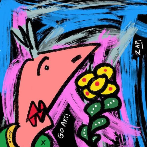 Painting - Mr. Yonko Nineteen  by Yonko Kuchera