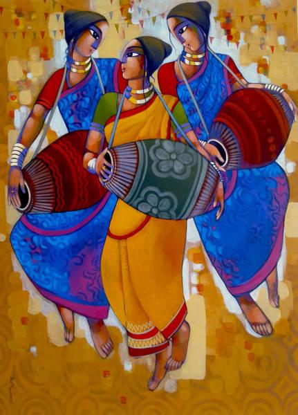 Painting - Mridanga by Sekhar Roy
