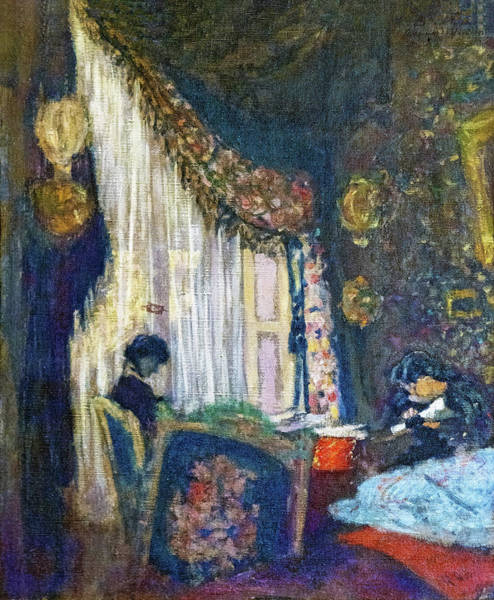 Research Painting - Mrs. Hessel At Her Window - Digital Remastered Edition by Edouard Vuillard
