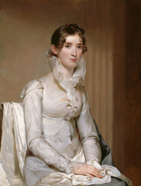 Wall Art - Painting - Mrs. Klapp  by Thomas Sully