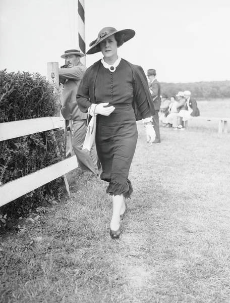 Socialite Photograph - Mrs. Murray Attends A Race by Bert Morgan