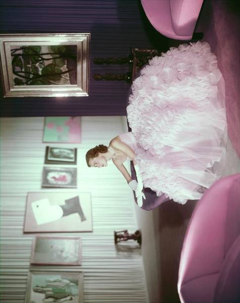 Blue Gown Photograph - Mrs. R. Fulton Cutting II by Horst P. Horst