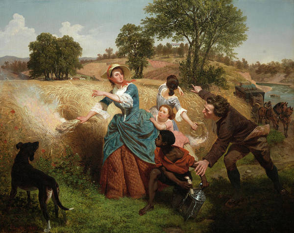 Wall Art - Painting - Mrs. Schuyler Burning Her Wheat Fields On The Approach Of The British, 1852 by Emanuel Leutze