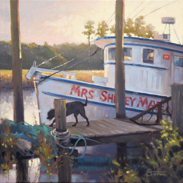 Shrimp Painting - Mrs Shirley Mae by Todd Baxter
