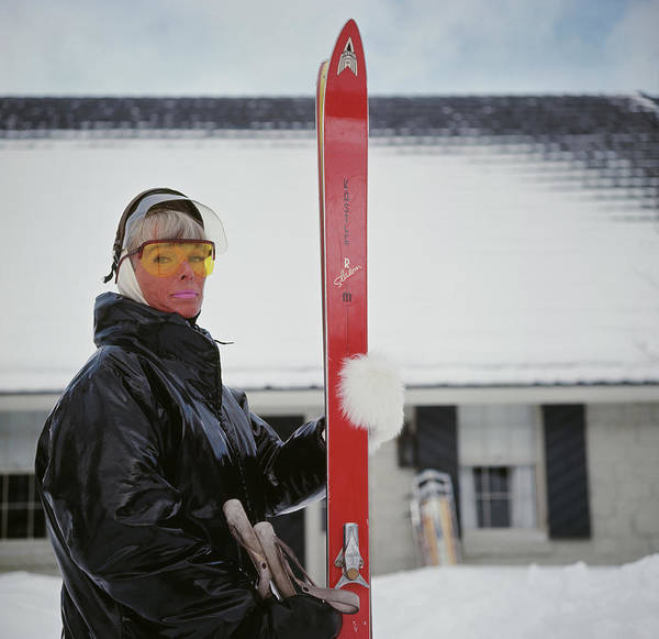 Alpine Skiing Photograph - Mrs Vernon Taylor by Slim Aarons