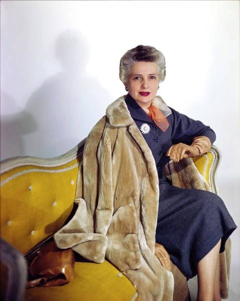 Plate Photograph - Mrs. William Lewis In Maximilian by Horst P. Horst