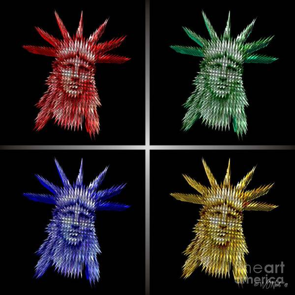 Digital Art - The Colors Of Liberty by Walter Neal