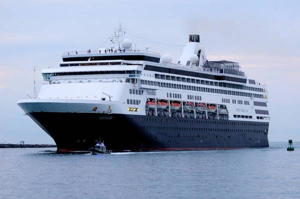 Photograph - Ms Veendam Arrives At Port by Bradford Martin